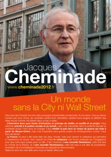 Profession de foi de Jacques Cheminade au premier tour de l'élection présidentielle 2012