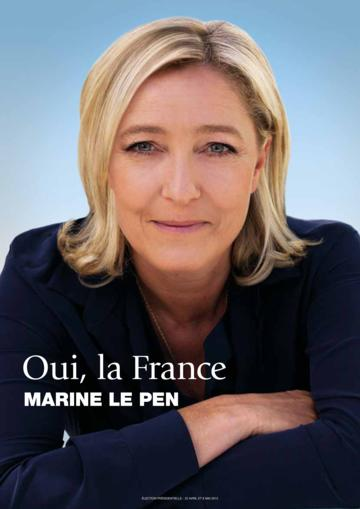 Profession de foi de Marine Le Pen au premier tour de l'élection présidentielle 2012