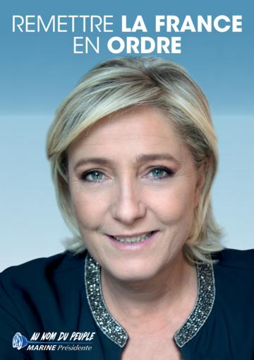 Profession de foi de Marine Le Pen au premier tour de l'élection présidentielle 2017