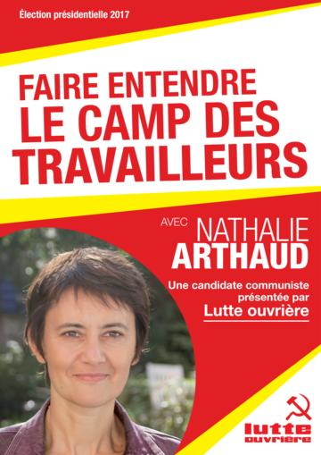 Profession de foi de Nathalie Arthaud au premier tour de l'élection présidentielle 2017